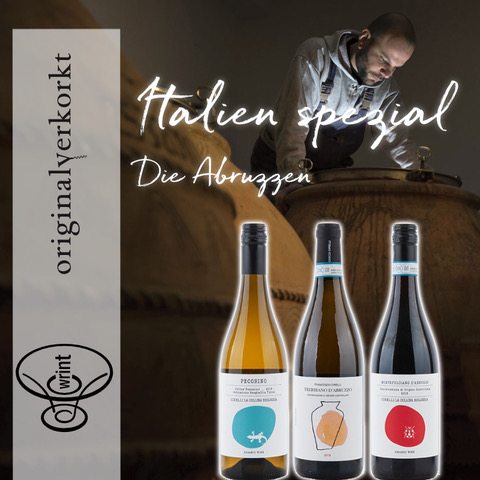 Wrint Flaschen Italien Abruzzen Insta - WRINT Paket Abruzzen (1x Montepulciano, 1x Pecorino, 1x Trebbiano Amphore) – Weingut Cirelli
