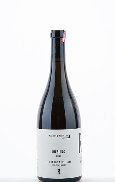 """Riesling Riede Steiner Schreck """"This is not a love song"""" 2016"""
