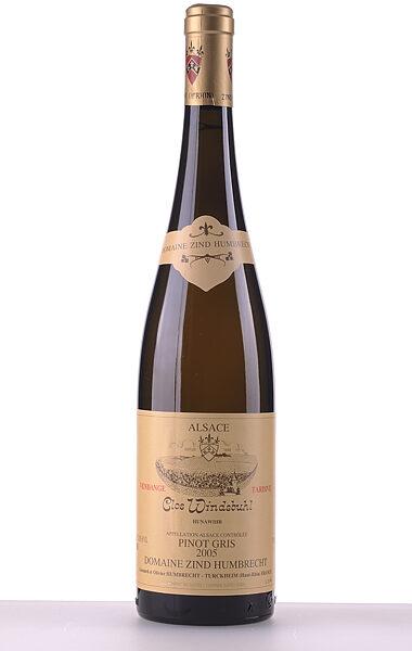 Domaine Zind-Humbrecht Pinot Gris Clos Windsbuhl Vendanges Tardives 2005